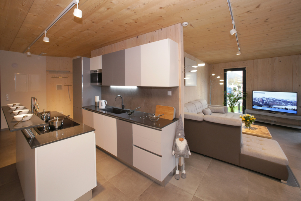 Aparthotel-Zell am See-offene Küche