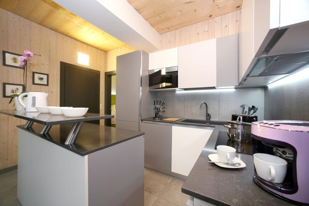 Aparthotel-Zell am See-moderne offene Küche