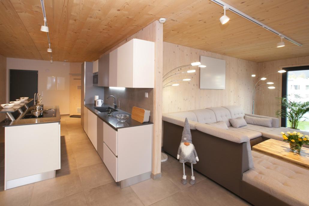 Aparthotel-ZellamSee-spacious kitchen and living area
